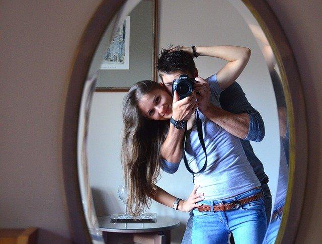 fotografování u zrcadla