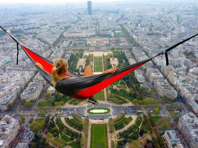 odpočinek nad Paříží