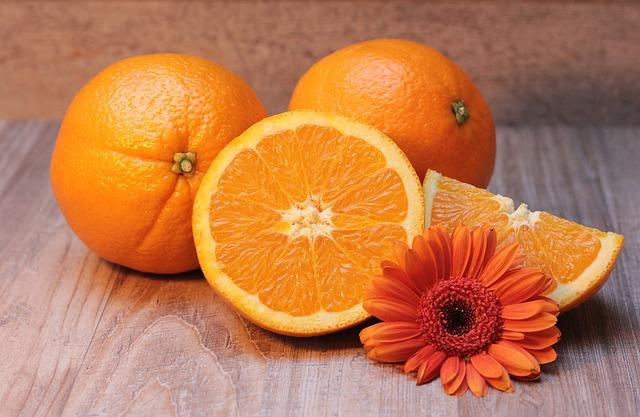 krájený pomeranč