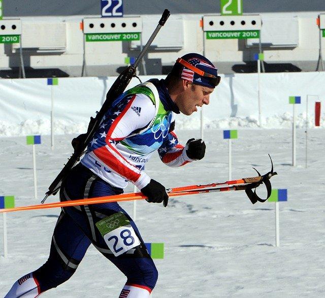 biatlonový závodník
