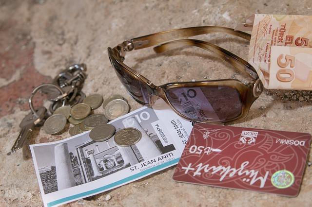 peníze na cestování